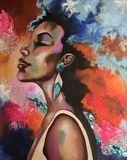 Acrylic, Mixed Media Painting