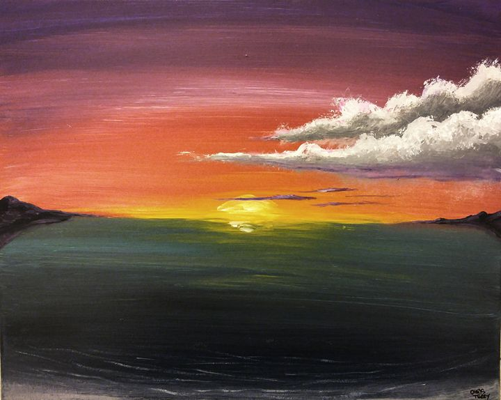 Burning sunset - Chris Terry Artwork
