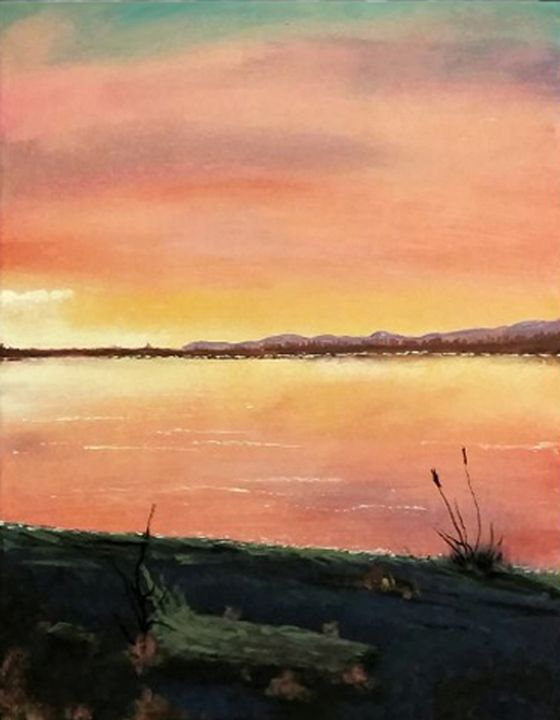 Majestic beach sunset - Chris Terry Artwork