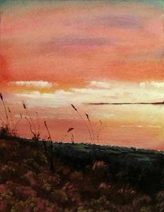 Majestic beach sunset