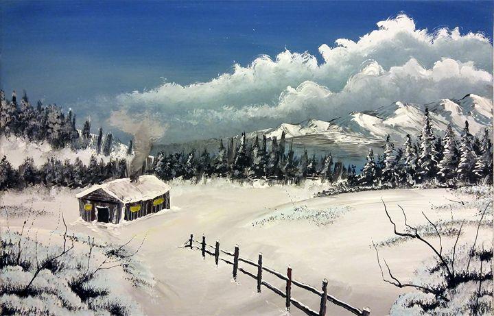 Cabin winter wonderland - Chris Terry Artwork