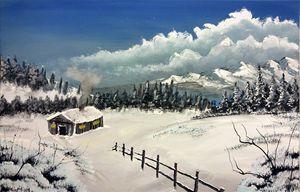 Cabin winter wonderland