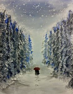 Snow covered path of mystery