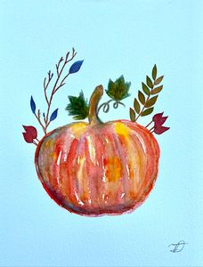 Pumpkin Watercolor 1