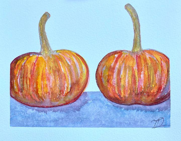 Pumpkin Watercolor 2 - T Art