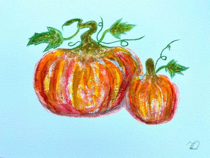 Pumpkin Watercolor 3 - T Art