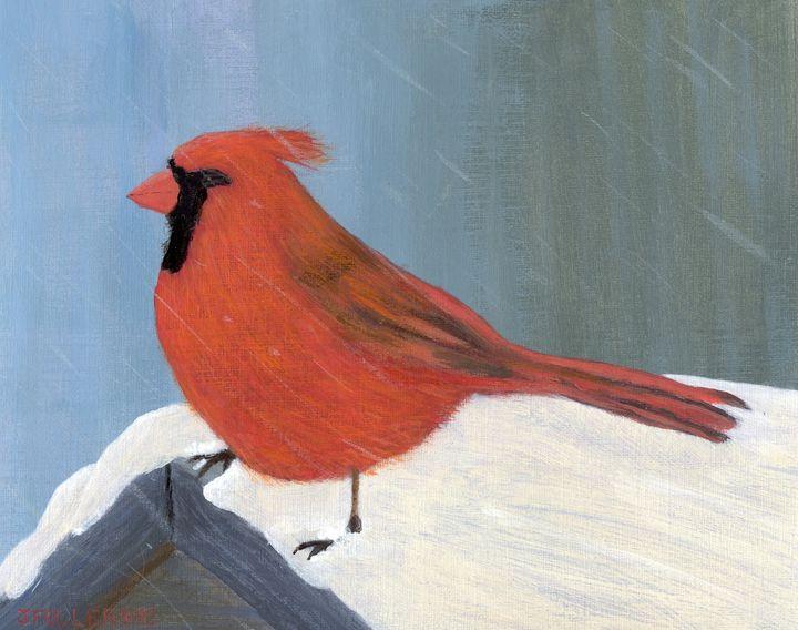 Snowy Cardinal - John W Fuller