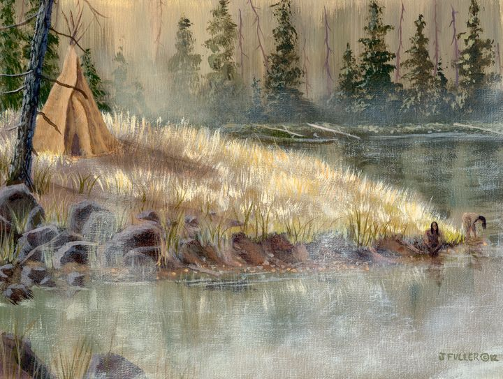 Madison River Camp - John W Fuller