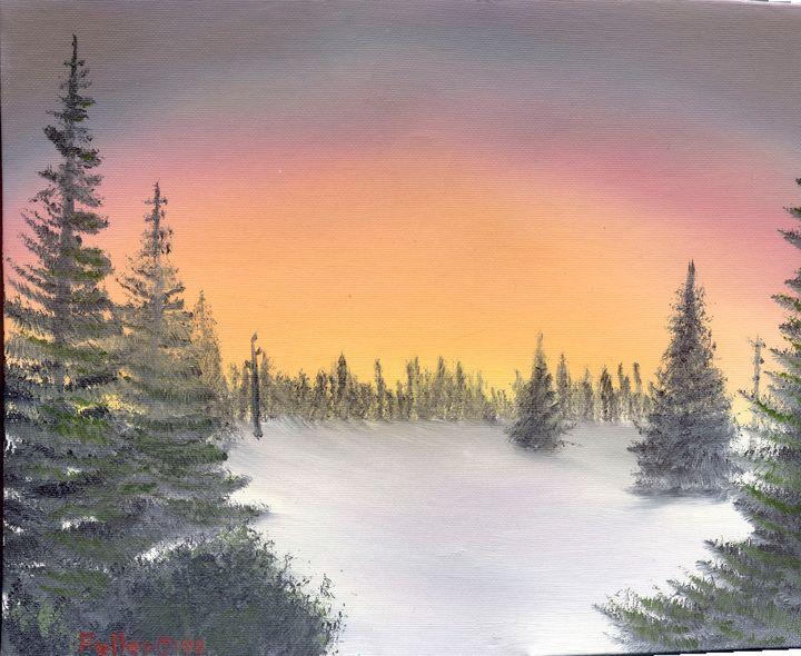 Pine Meadow Winter - John W Fuller