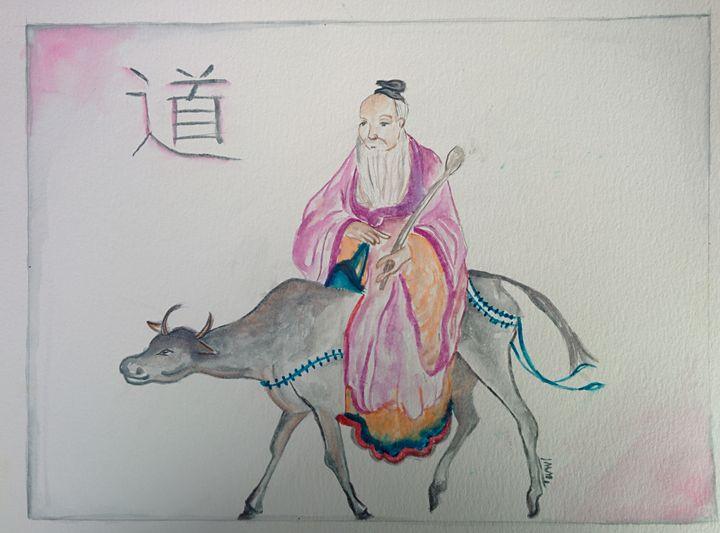 Lao Tzu on water Buffalo - MajesticElixir