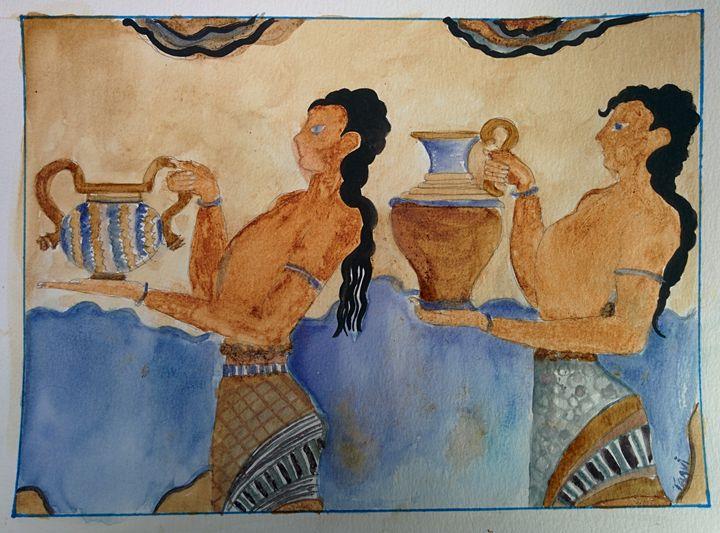 Knossos freco (Minoan) art - MajesticElixir