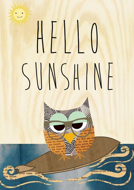Hello Sunshine surf owl - GreenNest
