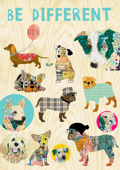 Be different dog collage - GreenNest