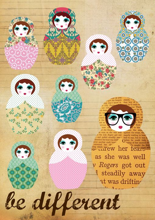 Be different  russian dolls - GreenNest