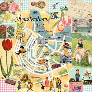 Amsterdam Map Collage - GreenNest