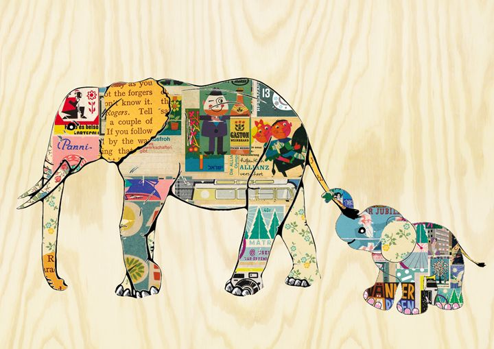 Cute Elephant Collage - GreenNest