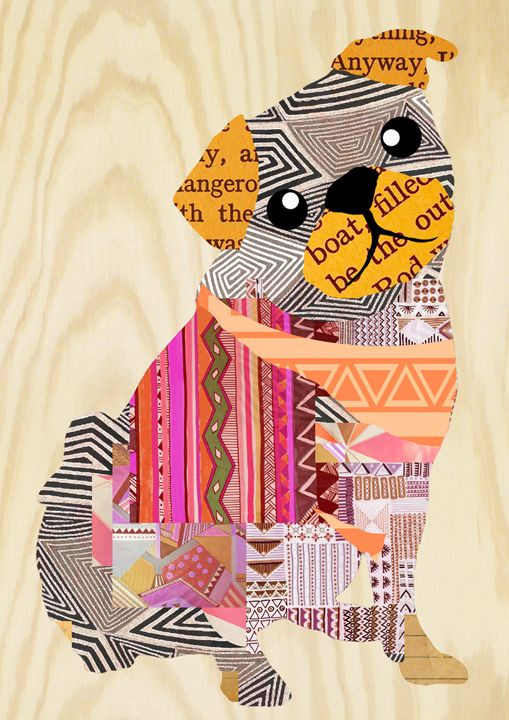 Pug Collage Aztek Pattern - GreenNest