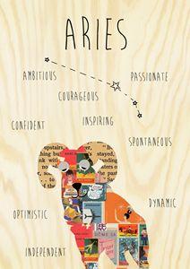 Aries Zodiac Collage