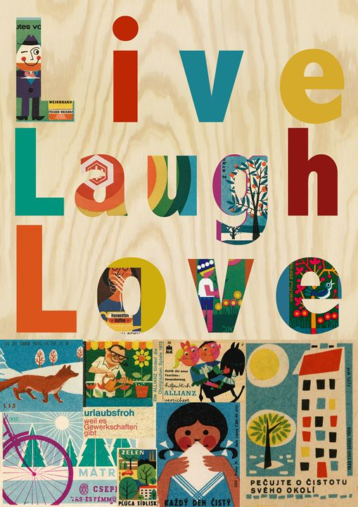 Live Laugh Love Collage Greennest Paintings Prints Humor