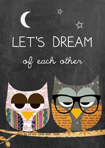 Let's dream of each other owls