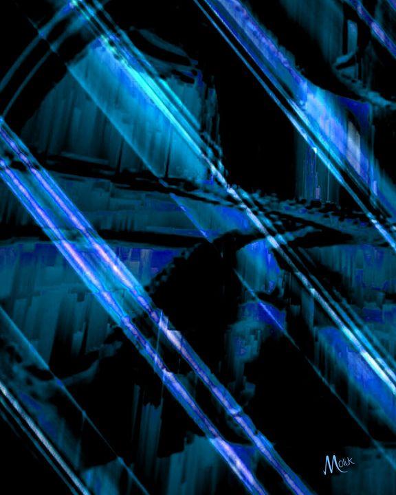 Blue Abstract - Molik