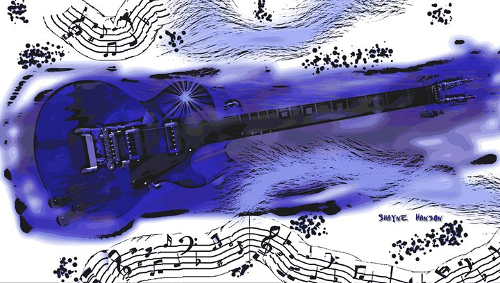 """Blue Music"" - Shayne's Art"
