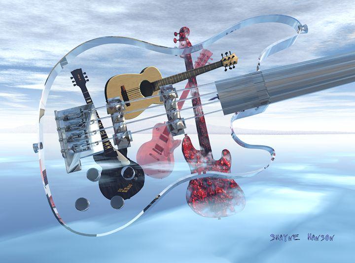 """Looking Through The Glass Bass"" - Shayne's Art"