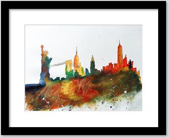 New York Skyline - Akkizz Art