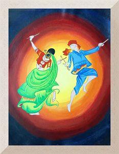 Acrylic painting_Raas Garba