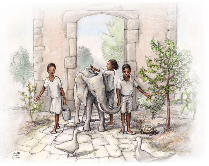 Children in the Garden - Jonathan Brice Lyman