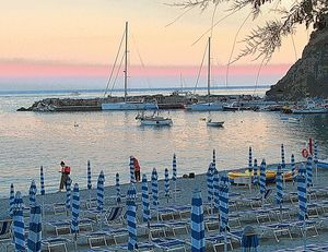 Sunset Anchor at Monterosso al Mare