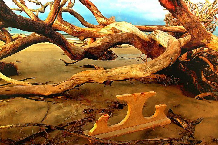 Table on Jekyll Driftwood Beach - Sea Change Vibes