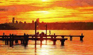 Sunset Dock Dancer in Kirkland