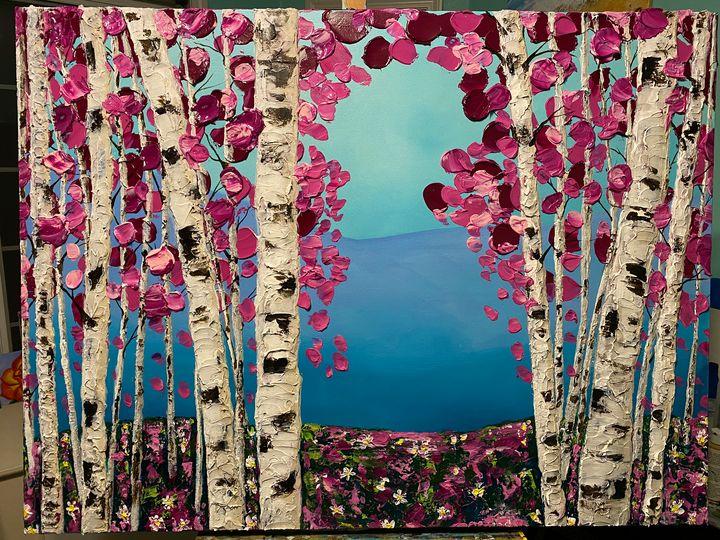 Fairytale Forrest - Modern Monet - Kim Samitore, Artist