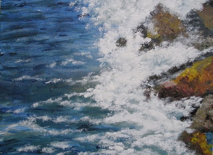 Sea on the Rocks ORIGINAL - annabrazao