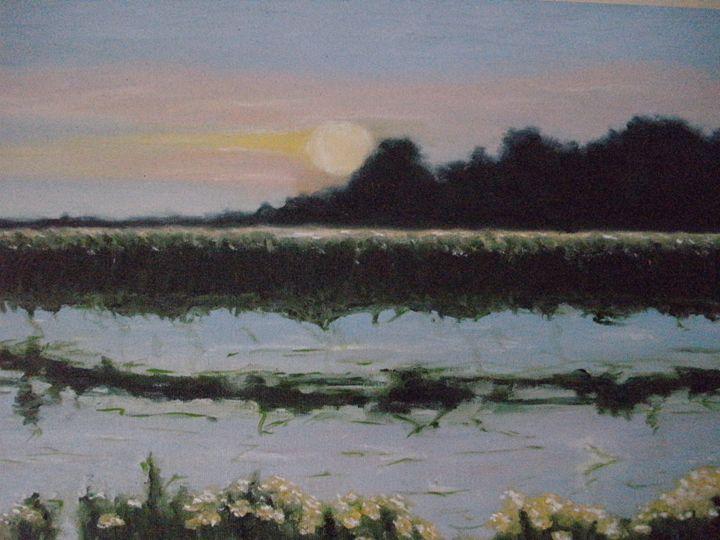 Sunset over the Lake ORIGINAL - annabrazao