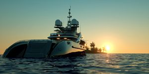 Luxury Big Yacht at the Sea