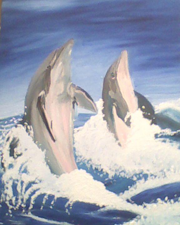 Dolphins at play - Aislinn