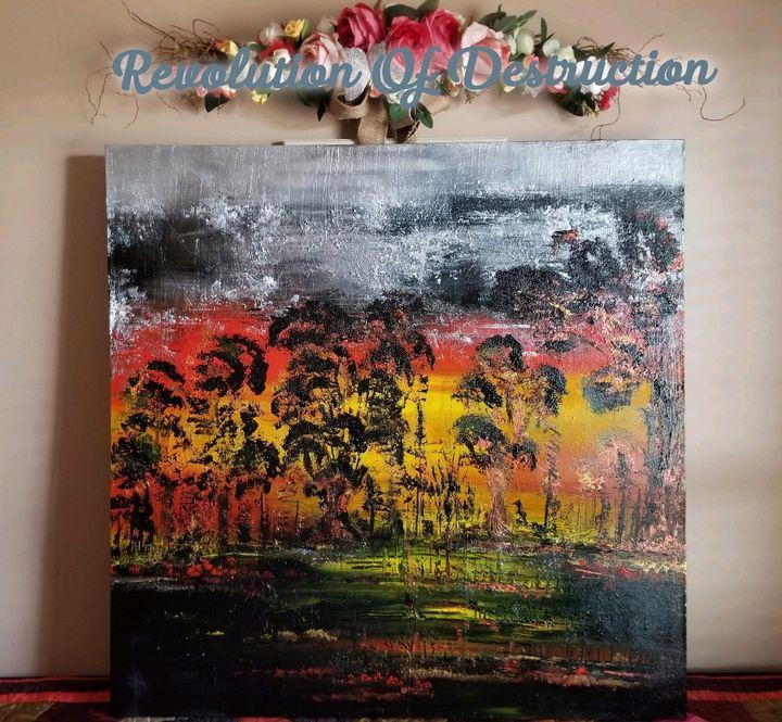 Revolution of Destruction - Cheryl Chaplin Art