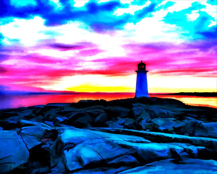 Sunkissed Peggy's Cove - Ray LeBlanc