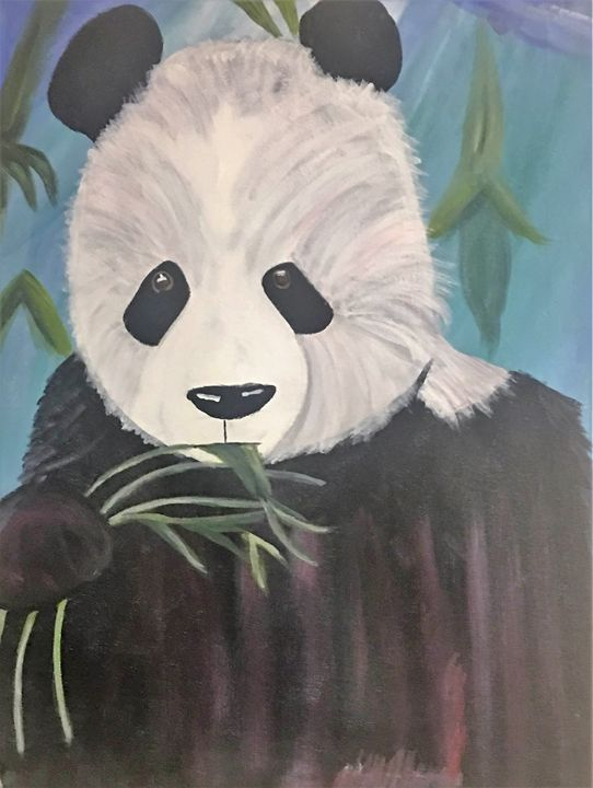 Panda Eating Bamboo - Chloe Peterson