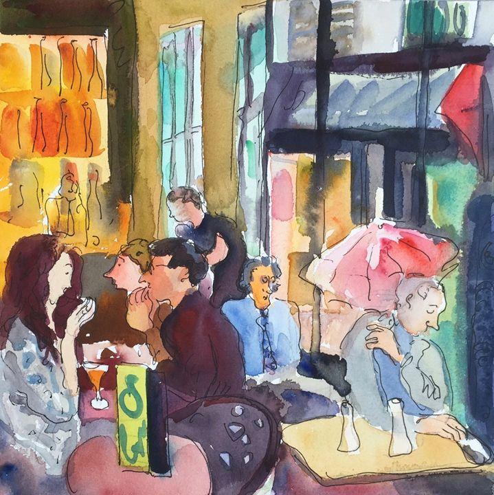 Parisian cafe - VARVARA BRACHO ART