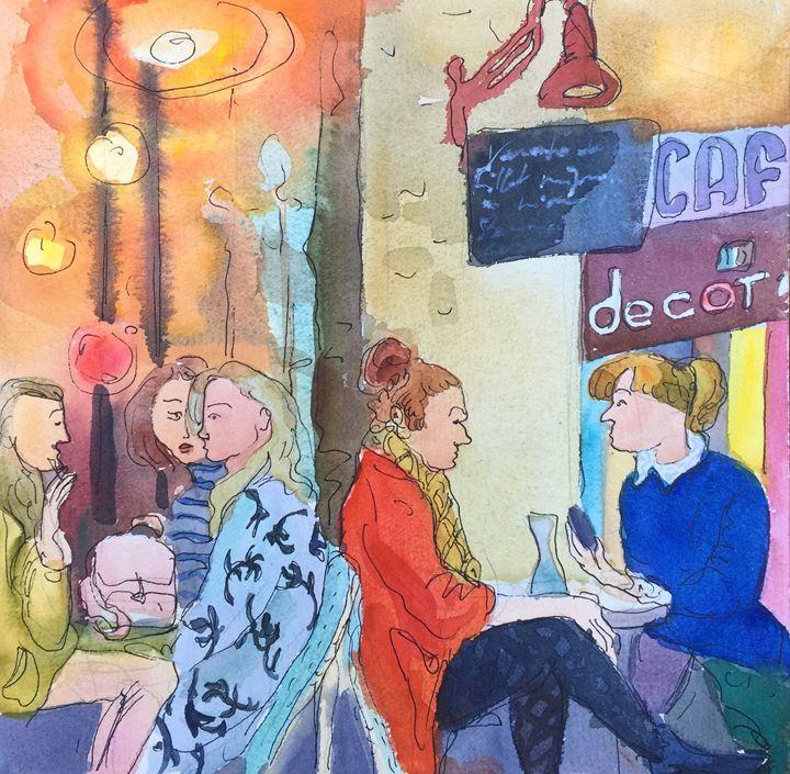 Pause Cafe, Bastille - VARVARA BRACHO ART