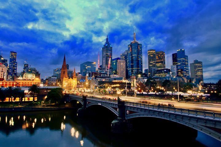 Melbourne at Sunset - Stephen Seago