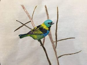 A bird in the fabric