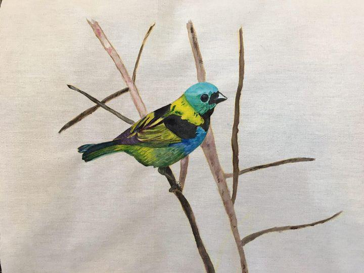 A bird in the fabric - Shukoofeh
