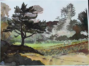 Watercolor Bretagne France