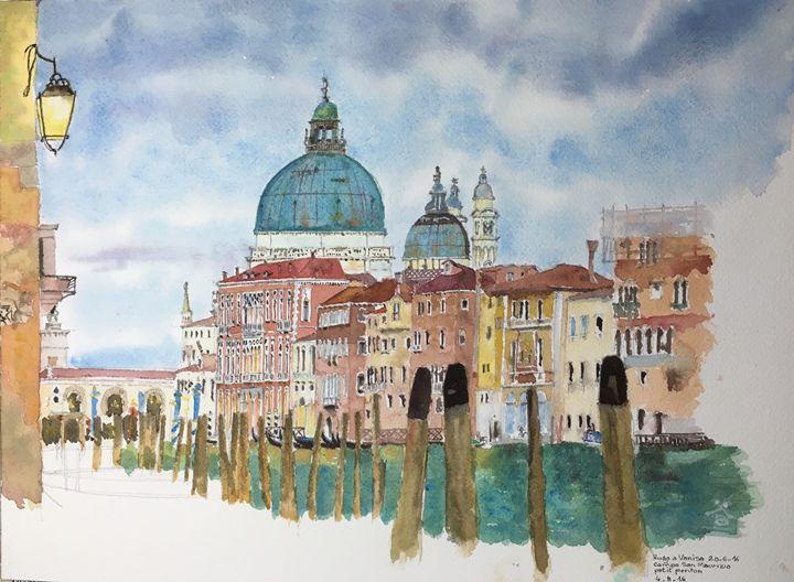 Watercolor Santa Maria della Salute - Lala Rakotoarimanga Andrianjaka