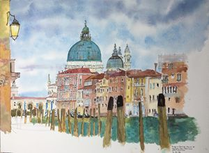 Watercolor Santa Maria della Salute