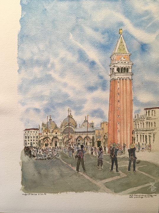 Watercolor Piazza San Marco Venice - Lala Rakotoarimanga Andrianjaka